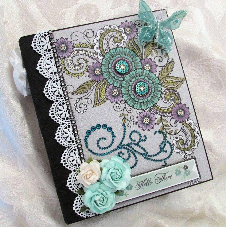 TPHH Handmade Waterfall Mini Scrapbook Album Premade Hello There SWAK