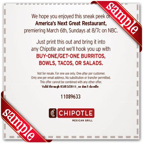 How to Redeem a Coupon Code at Chipotle. To redeem a coupon code or gift card at Chipotle, start by clicking on the large, brown