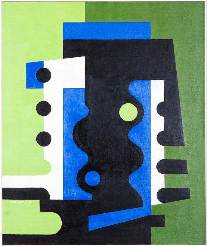eduardo ramirez villamizar - verde azul y negro 1958