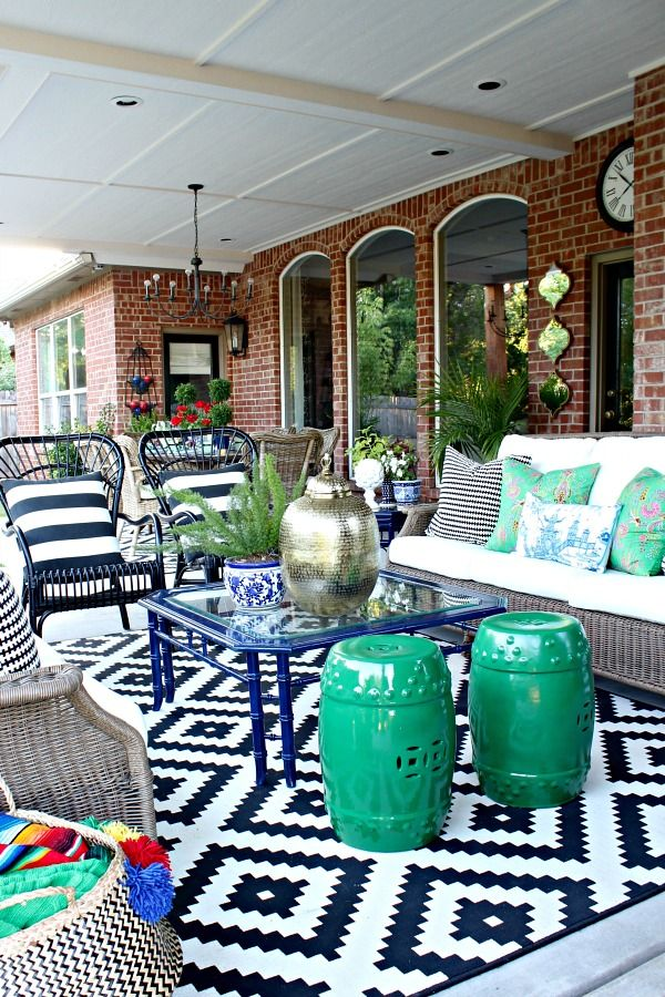 Backyard Patio Decorating Ideas blogger stylin' home tours summer edition- patio reveal! | outdoors