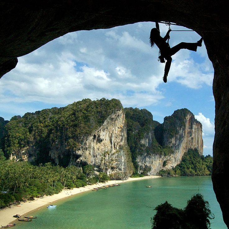 Rock Climbing At Railay Beach, Thailand   Adventure Vacations ...