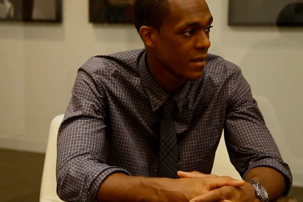 Rajon Rondo of the Boston Celtics Interns at GQ.