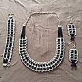 Parure collier, boucles d'oreille et bracelet fait avec capsules canette de soda…