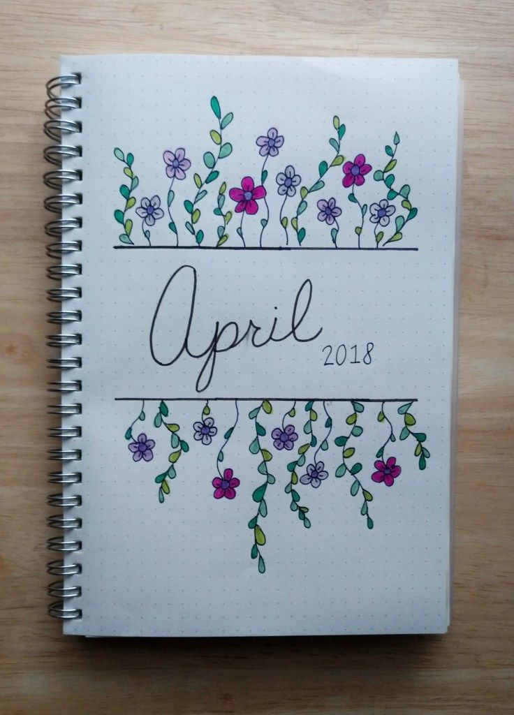 It's finally spring! Check out my monthly spread I posted on Easter Sunday that includes trackers and goals.