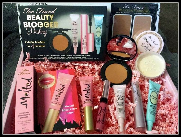 Beauty Intl: Too Faced Beauty Blogger Darlings haul and Giveawa...