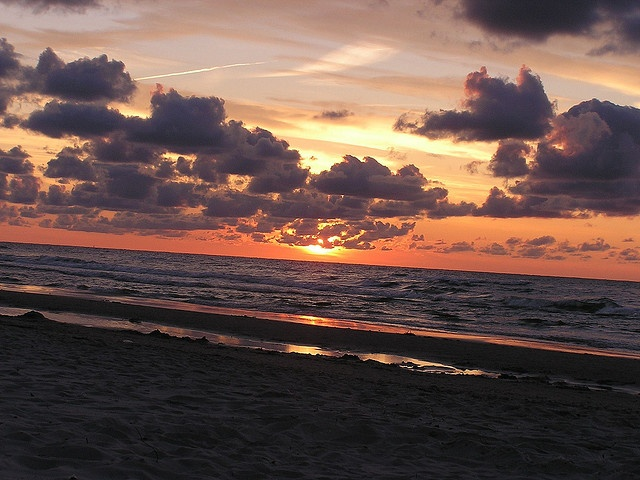 Lubiatowski zachód słońca