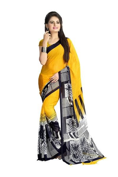Fancy Designer Women's Chiffon Printed Saree