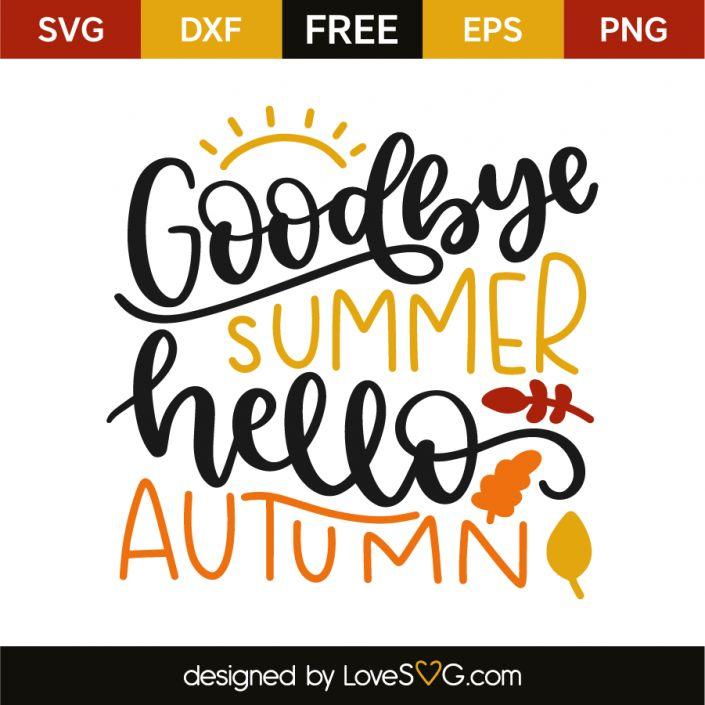 Goodbye summer hello autumn | Hello autumn, Fall clip art ...