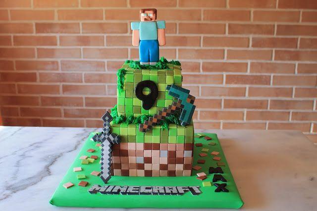 MI RINCÓN DULCE: Tarta Minecraft