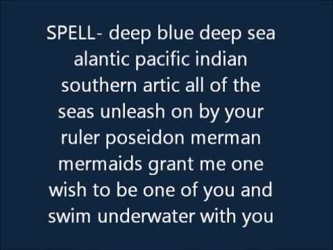 mermaid spell I'm trying this for overnight I'll see if it works!