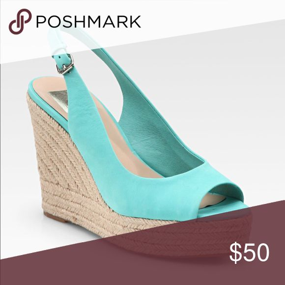 Dolce Vita turquoise wedges never worn Dolce Vita wedge heels turquoise never worn Dolce Vita Shoes