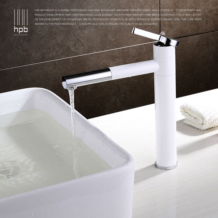 HPB 360 Degree Rotation Spout White Tall Brass Bathroom Faucet Hot And Cold Basin Sink Mixer Tap HP3000 bathroom organization <3 AliExpress Affiliate's Pin. Find out more by clicking the image