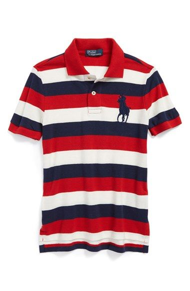 Ralph Lauren Stripe Polo Shirt (Toddler \u0026 Little Boys) available at # Nordstrom