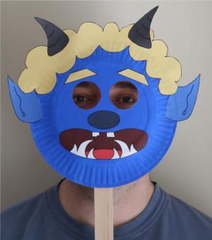 Paper plate masks. Looking for some rainy day fun? Getting ready for some fancy dress? Looking for a fun kids activity at a party? Take a peak at these ADORABLE Paper Plate mask .