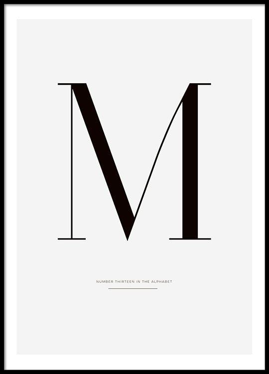 Letter M (21x30cm) in der Gruppe Poster / Größen und Formate / 50x70cm bei Desenio AB (7914-4)