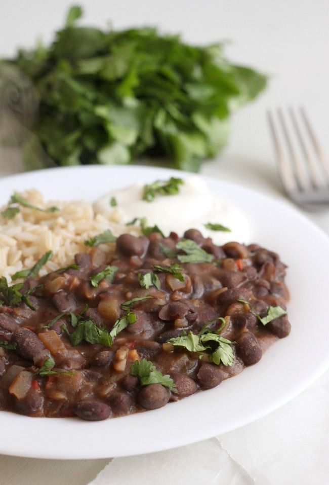 Restaurant-Style Black Beans:   Great recipe. I have made this 5 or 6 times and follow the recipe exactly. Really good with jasmine rice.