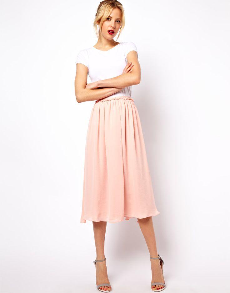Mango Full Midi Skirt - pretty