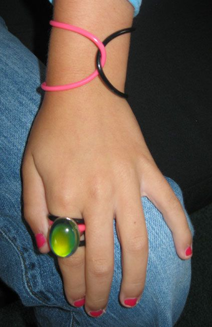 Jelly Bracelets... oh back in elementary school! My friends and I would melt them together with a lighter lol
