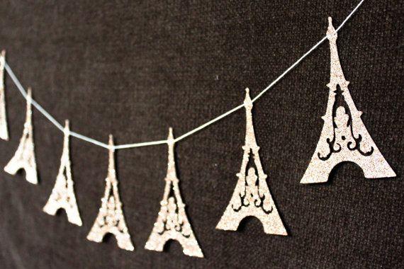 Eiffel Tower Garland  Paris Decoration