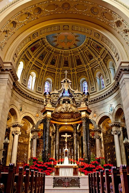 Cathedral Of Saint Paul, Saint Paul, Minnesota ...lovely stained glass windows in the dome.