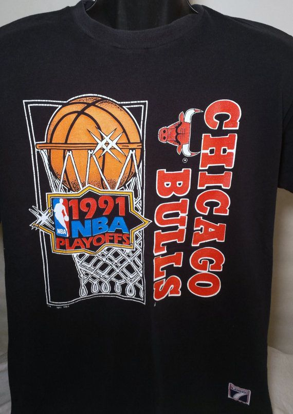 Vintage Chicago Bulls 1991 NBA Playoffs Mens by RedFiveVintage