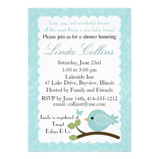 14 best baby shower invitations images on pinterest baby shower blue baby shower invitation with bird butterfly stopboris Gallery