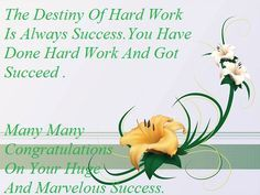 Congratulations On Your Achievement Quotes | Congratulations On Your Success Sms