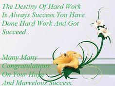 Congratulations On Your Achievement Quotes | Congratulations On Your Success Sms