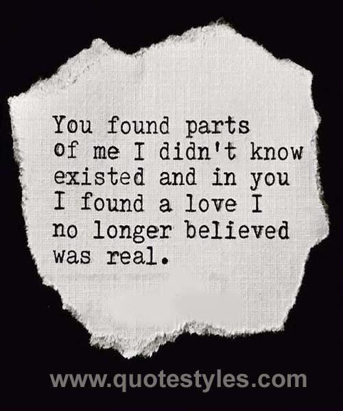 You found parts- Love quotes