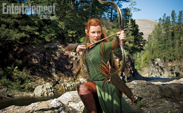 Here's a first look of Evangeline Lilly as Tauriel in 'The Hobbit: The Desolation of Smaug'. What do you think of the look and having a character not from the classic novel?