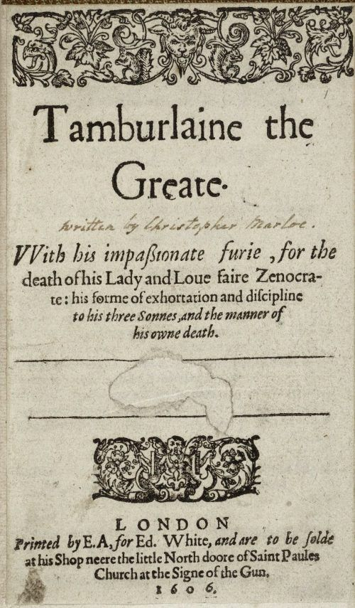 the rhetoric of christopher marlowes tamburlaine essay Marlowe essay, research paper christopher marlowe: marlowe wrote tamburlaine and the jew and felt that he had non truly put his etre and rhetoric.