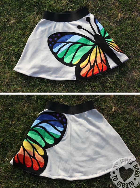 My Inner Need to Create...: Skirt Week: Rainbow Butterfly Skirt