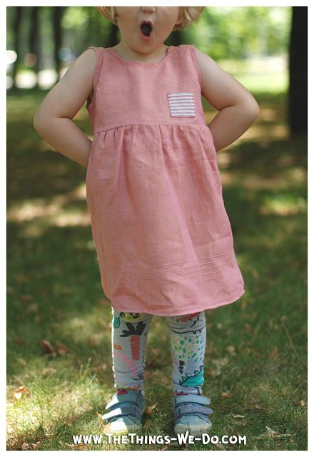 Anna Linen Dress | Free Pattern - Things We Do Blog
