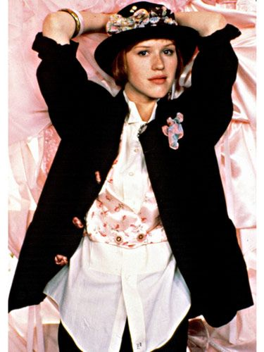 "Molly Ringwald as Andie Walsh in ""Pretty in Pink"" WAS my girl totally in hs.. Loved the BRAT pack"