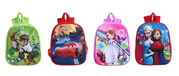 ФЗ 2015 рюкзак фиолетовый мультфильм ученик школьные сумки дети рюкзак для детей 16 дюймов ранцы для студентов 5-12y