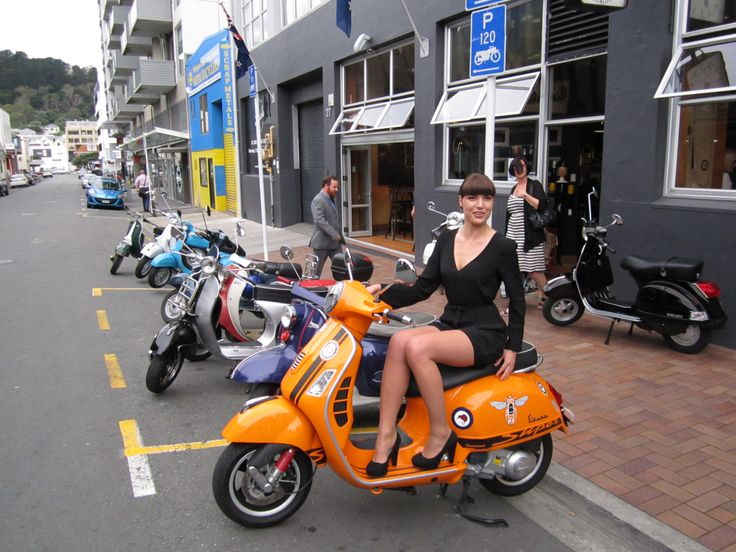 Orange Vespa at the Launch of the new 946.