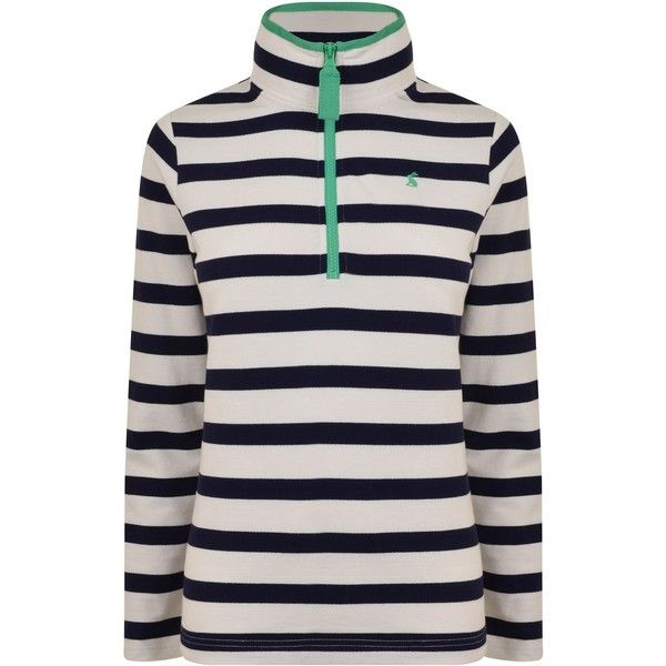 Joules Fairdale Long Sleeved Sweatshirt ($19) ❤ liked on Polyvore featuring tops, hoodies, sweatshirts, french navy, zip top, long sleeve cotton tops, long sleeve sweatshirts, navy blue sweatshirt and navy long sleeve top