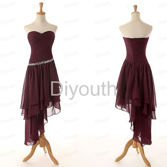 purple bridesmiad dress  tea bridesmaid dress  by Diyouth on Etsy, $99.99