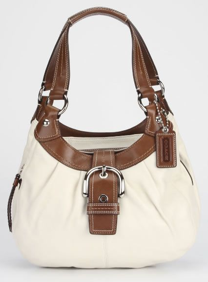 Coach Lyn Hobo Handbag In White, the cutest coach bag I've ever seen. Would go great with a navy outfit