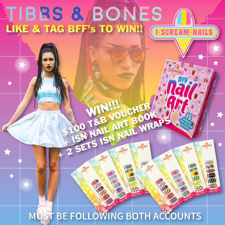 WIN WIN WIN! Head over to our IG www.instagram.com/tibbsandbones to WIN a $100 Gift Voucher and a bunch of I Scream Nails GOODIES!  #iscreamnails #tibbsandbones #nailwraps #nailart #melbournefashion