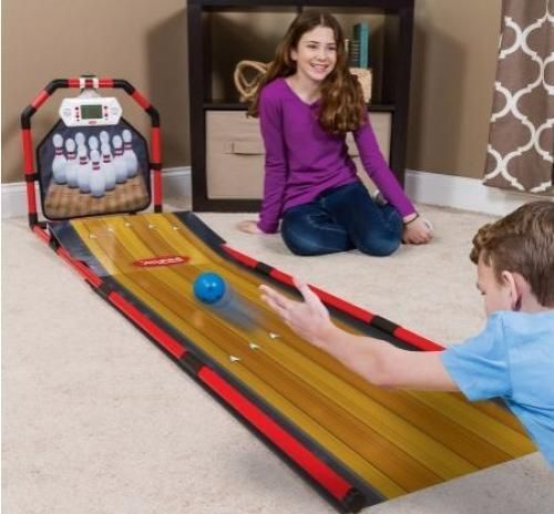 Your kids will spend hours of fun with their friends with this Majik Electronic Bowling Game. It brings the fun and excitement of the alley right into your home for hours of endless play. Children can go for a perfect 300 with authentic 10 pin 10-frame scoring system.   eBay!