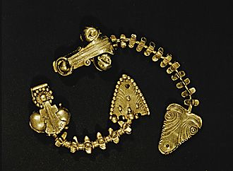 HELLENISTIC JEWELRY 4TH BCE  Two silver fibulae from Lom (4th BCE)  Hist.District Museum, Lom, Bulgaria