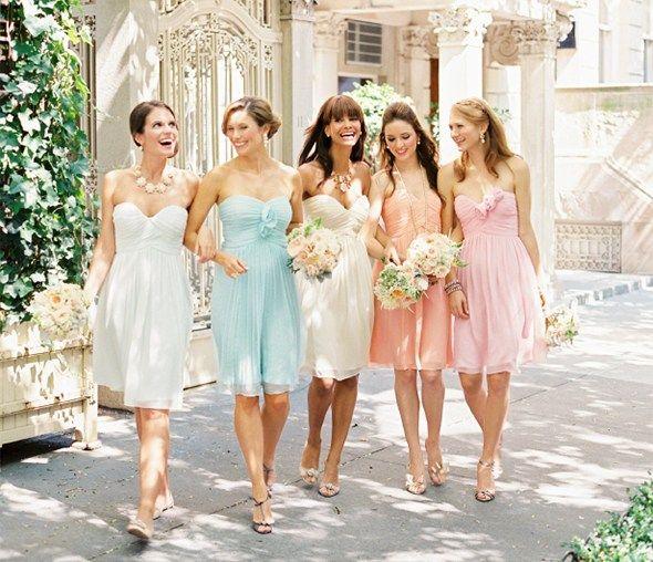 Kleid hochzeitsgast pastell