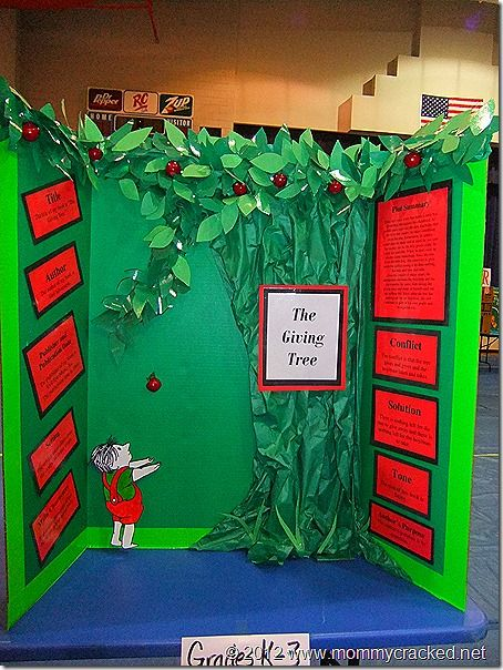 Students did projects on books they read, then the school held a reading fair.  Such a great idea!