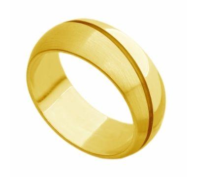 Aliança Tradicional com Friso - Ouro 18k – 750
