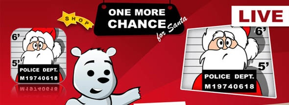 1 More Chance is an iPhone puzzle game app where players have to help a troubled Santa deliver his gifts before Christmas. The iPhone Santa game contains three levels across three different locations – North Pole, The Sleigh and the Roof.    Your objective is to match two gifts of the same colors without filling up the columns. For every gift you match, you'll be given points, but for every point you gain, the game will get faster making it harder the longer you play.