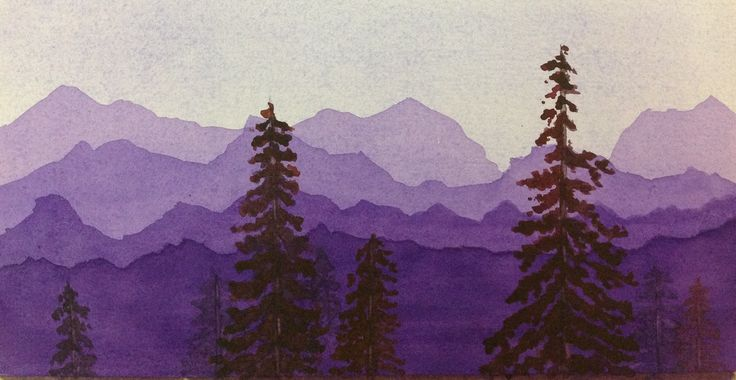 watercolor mountains - Google Search