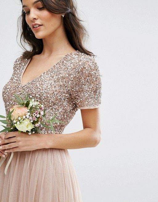 Maxi Tulle Dress with Tonal Delicate Sequins|Asos #sponsored