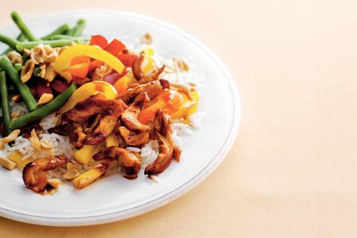Zoetzure kip met boontjes - Recept - Allerhande
