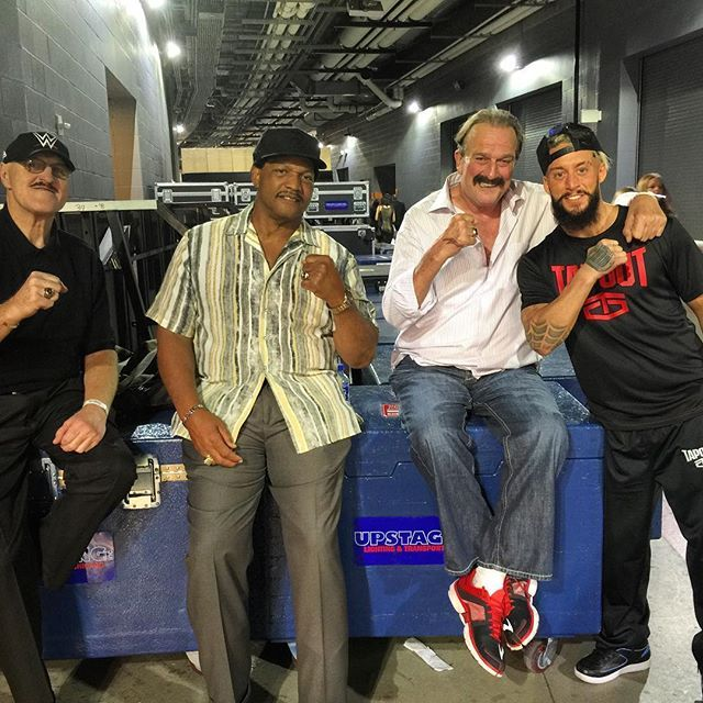 Slaughter x Ron Simmons x Jake the Snake Roberts x #SmackTalkerSkyWalker  respect the ones who paved the way and you'll travel a smooth road. @wwe @wwenxt